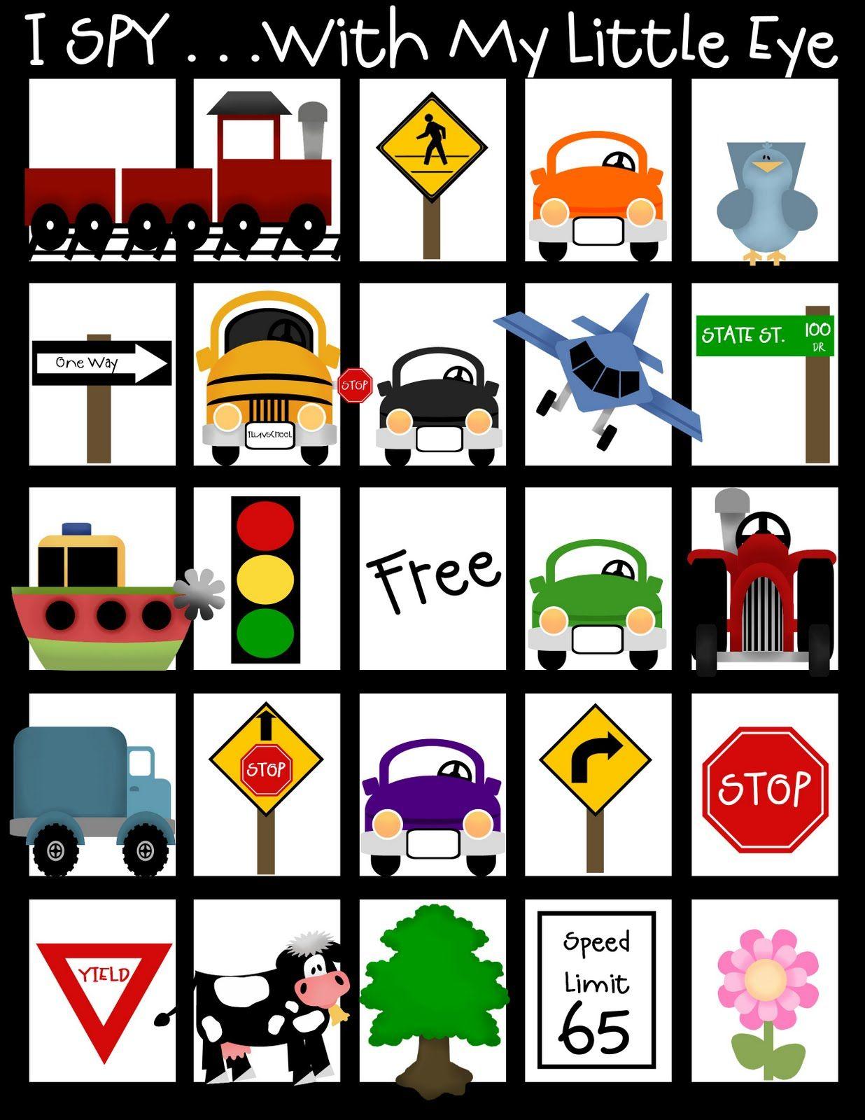 Travel Bag for car rides- free printables