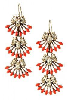 Coral Cay Earrings $49 www.stelladot.com/juliaphawkins
