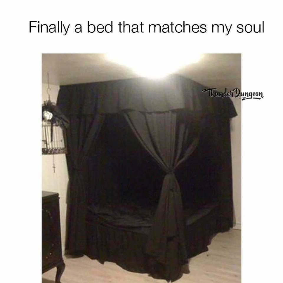 goth #gothic #bedroom #bed #blackbedding #bedding   Home   Pinterest