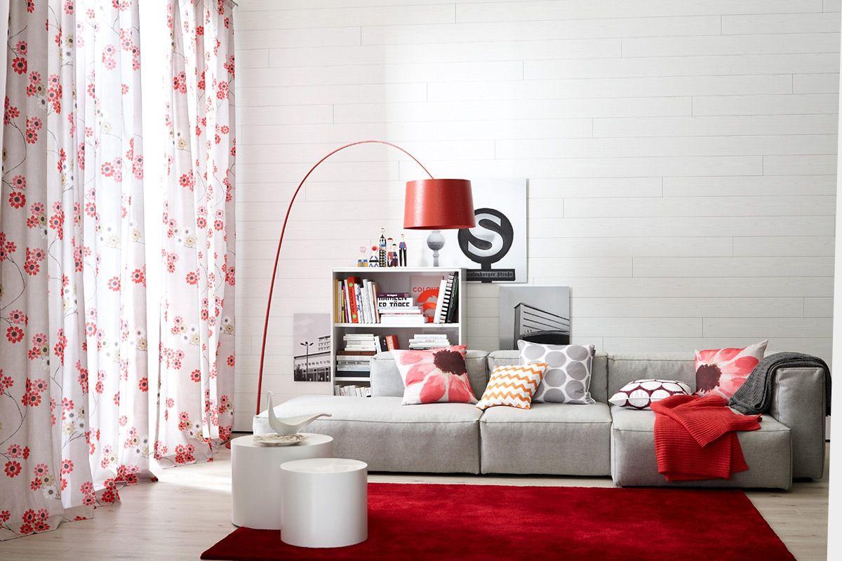 SCHÖNER WOHNEN KOLLEKTION   Wohnzimmer In Grau Und Rot