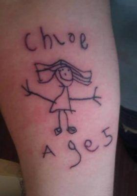 Pin Em Tatuagens Em Homenagem Aos Filhos
