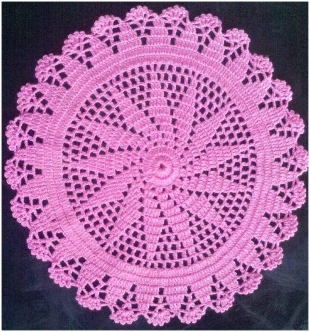 How To Crochet Doily – Tutorial – Craft Addicts | Crochet Doily ...