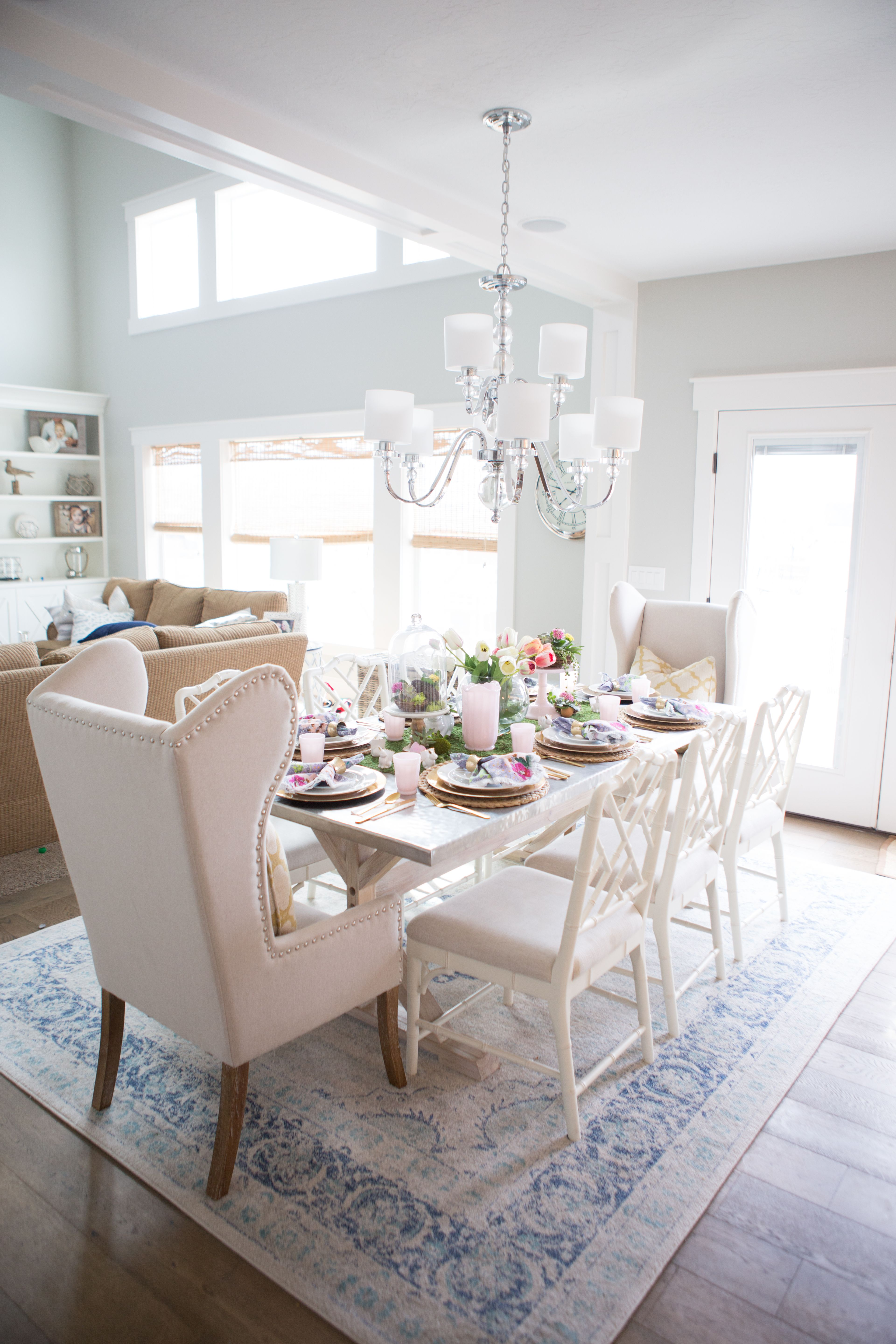 Easter Table scape | Dining room design, Easter table and Room