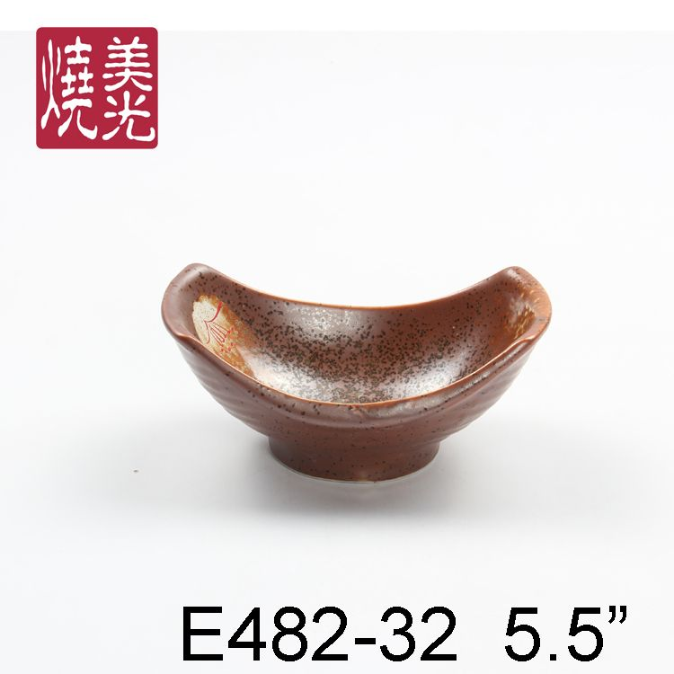 Japanese salad bowl&porcelain bowl E482-32  Size: Length 5.5 inch
