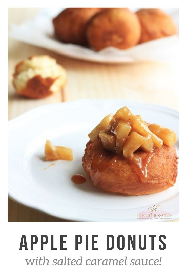 APPLE PIE DONUTS Topped with yummy, homemade salted caramel sauce!