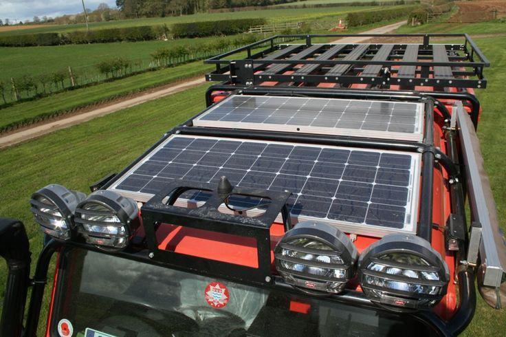 Installing A Solar Panel Land Rover Defender 110 Google Search Land Rover Defender Land Rover Solar Panels