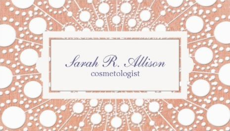 Cute peach retro circle dots beauty cosmetologist business cards cute peach retro circle dots beauty cosmetologist business cards http zazzle reheart Image collections