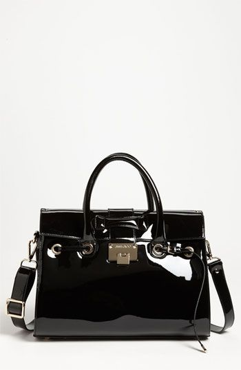 9c84a56ee64d Jimmy Choo  Rosalie  Patent Leather Satchel available at Nordstrom ...