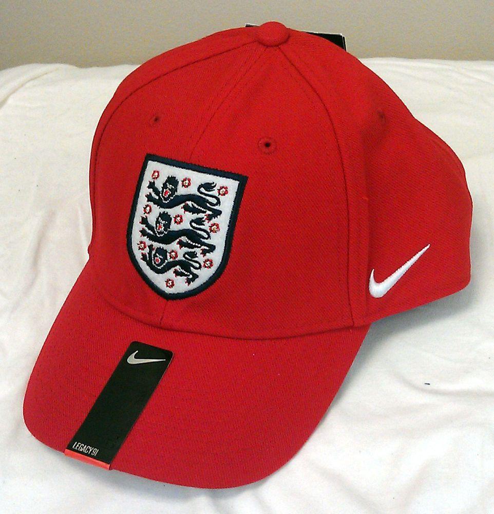 FA England Football Club Soccer Nike Hat Cap NEW NWT National Team Adult  One Sz  Nike  England fa325baa508b