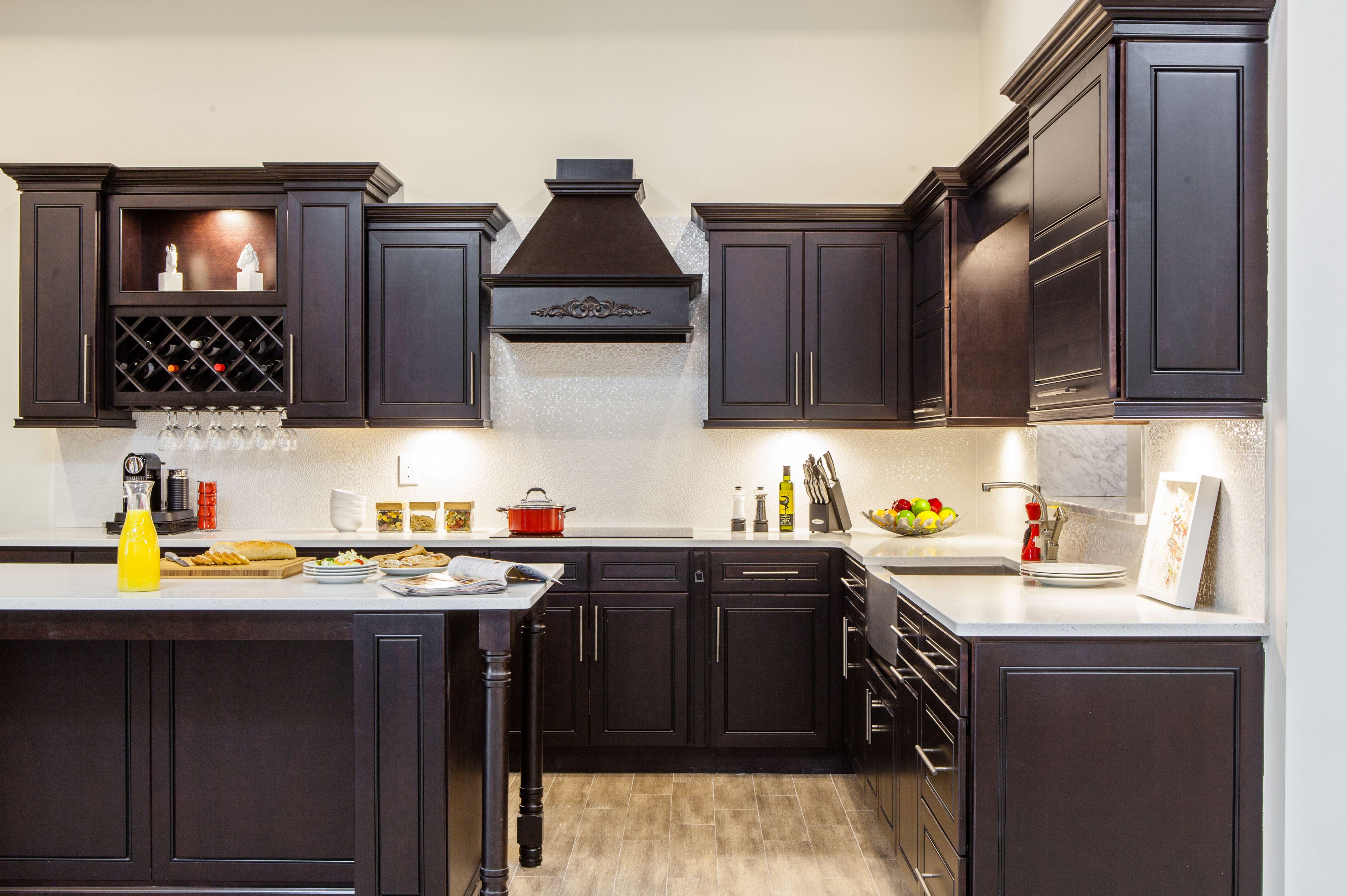 Best J K Espresso Maple Vanity Style K8 Small Kitchen Design 400 x 300
