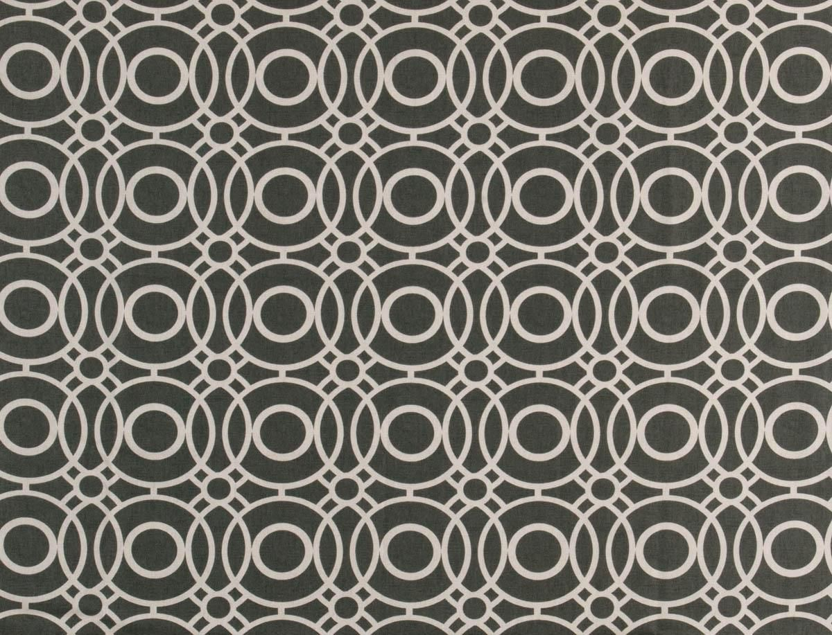 Eclipse Curtain Fabric Charcoal | Cheap Printed Fabric | UK Delivery