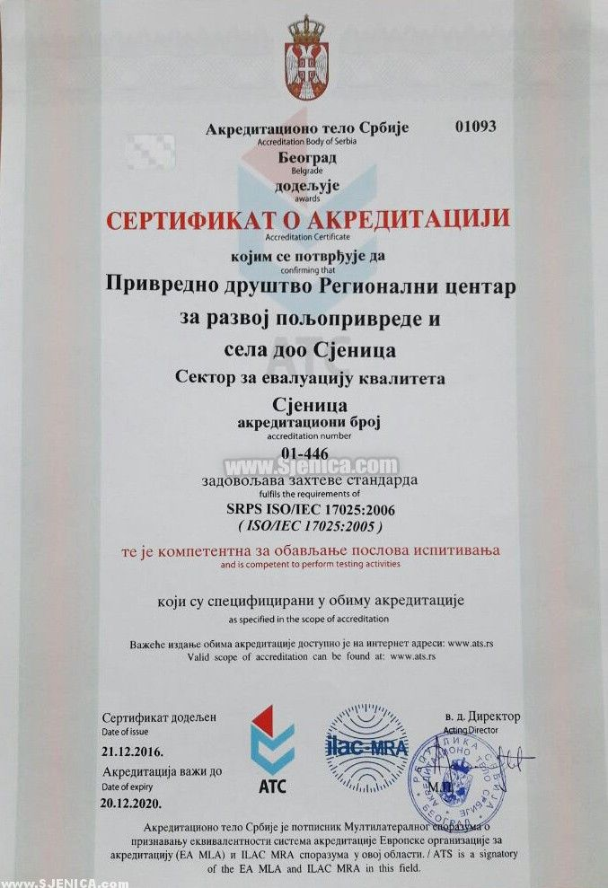 Sertifikat o akreditaciji