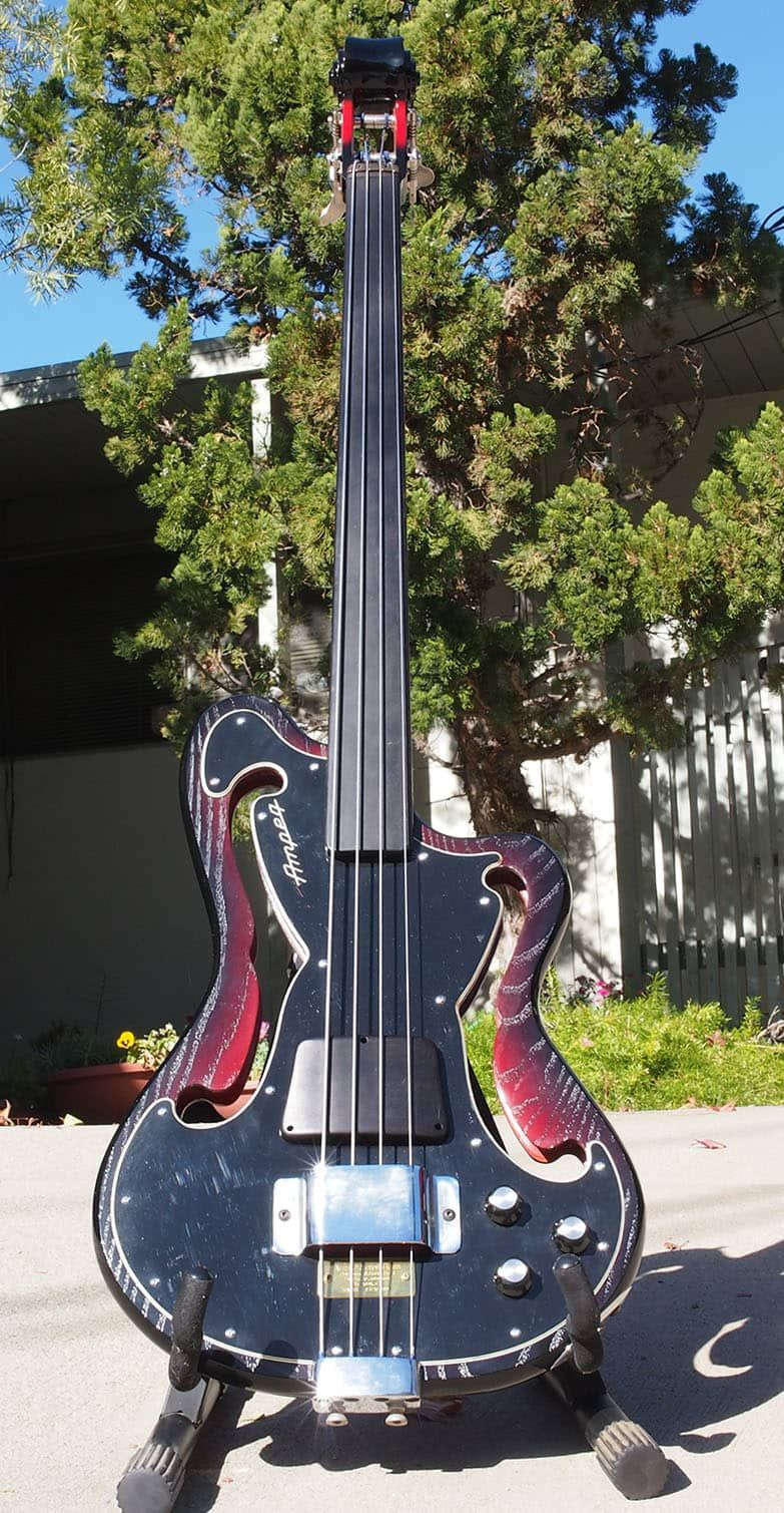 Ampeg Aub 2 Fretless Bass Guitar 1999 Wiggle Reverb Vintage Bass Guitars Bass Guitar Guitar