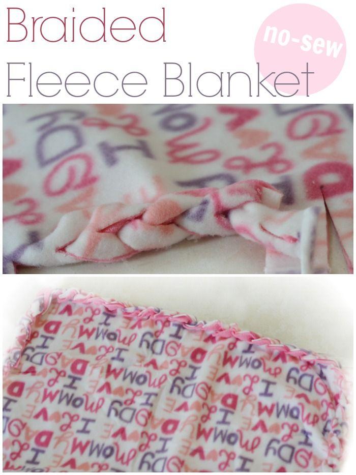 No Sew Braided Fleece Blanket Blanket Craft And Tutorials