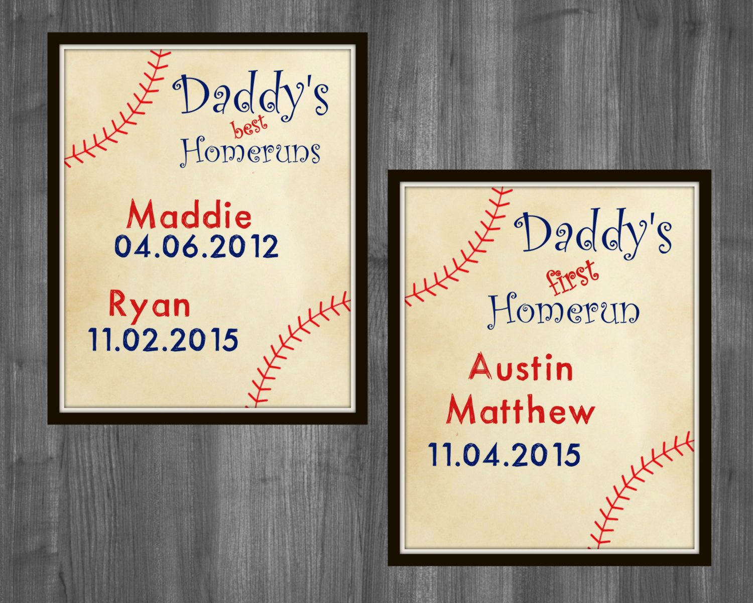 Father\'s Day Gift. Father\'s Day Baseball Gift First Father\'s Day ...