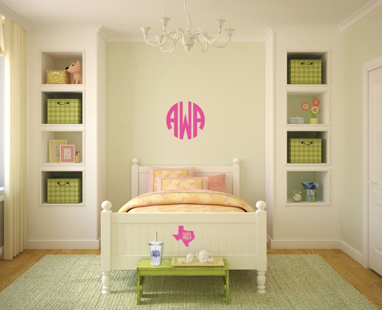 monogrammed scrubs and strings of pearls, future daughter\'s room ...