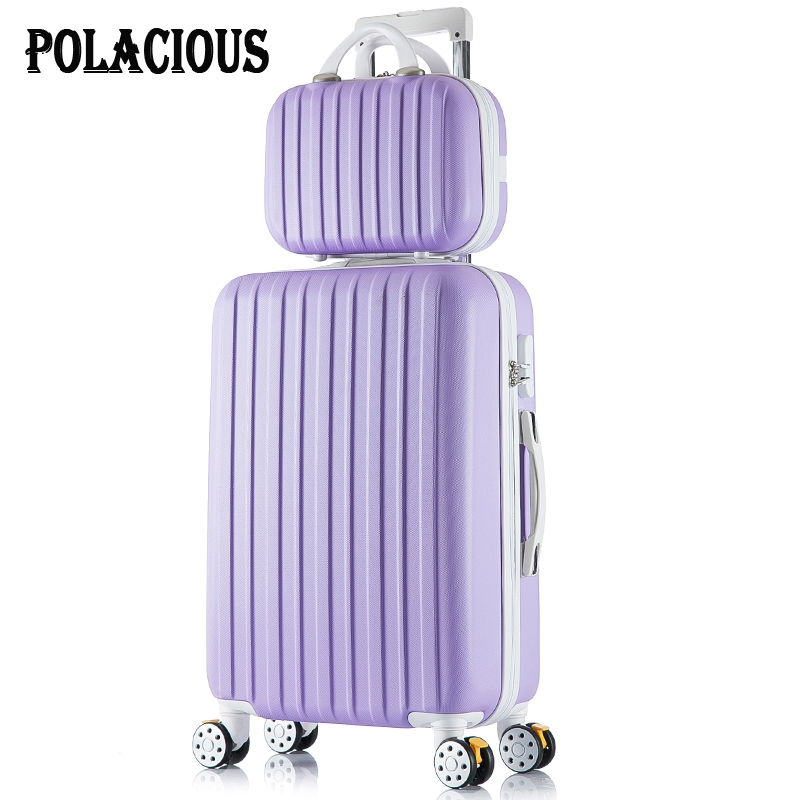 """88.18$  Watch here - http://ali9p5.worldwells.pw/go.php?t=32712017201 - """"24+12inch New surface like sandpaper stripes trolley suitcase sets/ 20"""""""" boarding luggage/10Colors universal wheels trolley candy"""""""