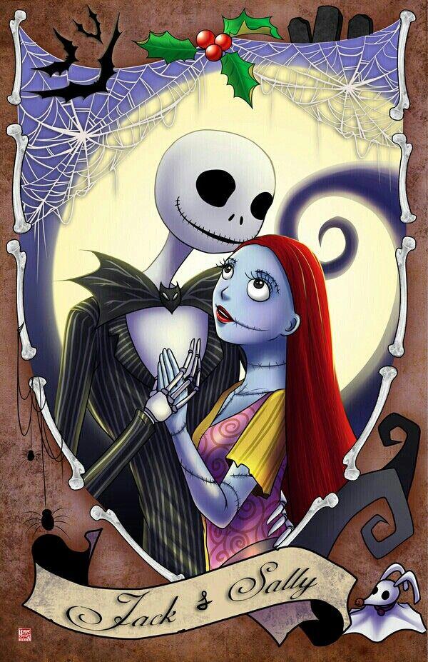 Jack & Sally. Nightmare before christmas drawings