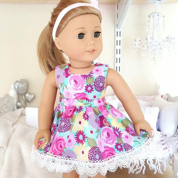 18-Zoll-Puppe floralen Rock und Crop top von SewCuteForever auf Etsy ...