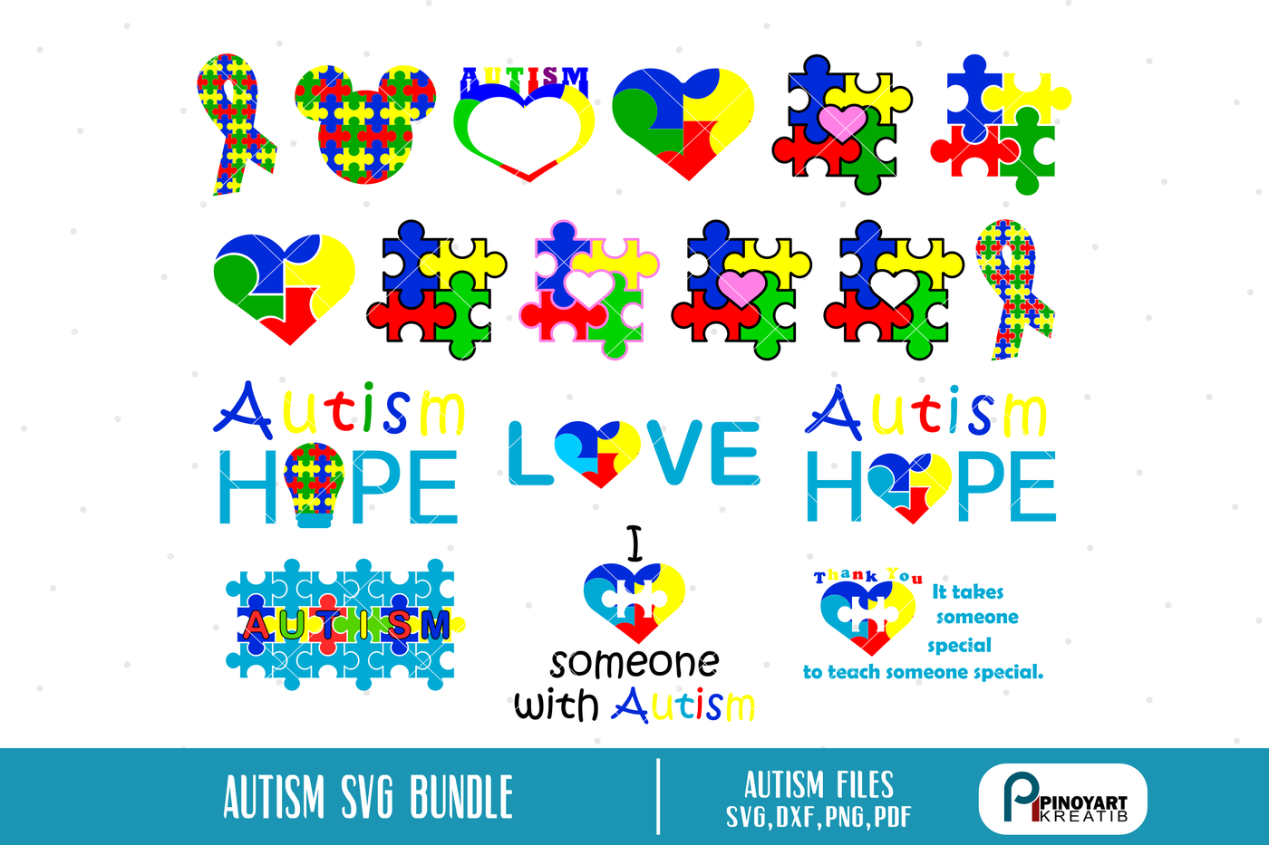 Autism Svg Autism Awareness Svg Autism Svg Autism Svg File Autism Dxf By Pinoyart Thehungryjpeg Com Awareness Affiliate Svg Autism Awareness Clip Art Svg