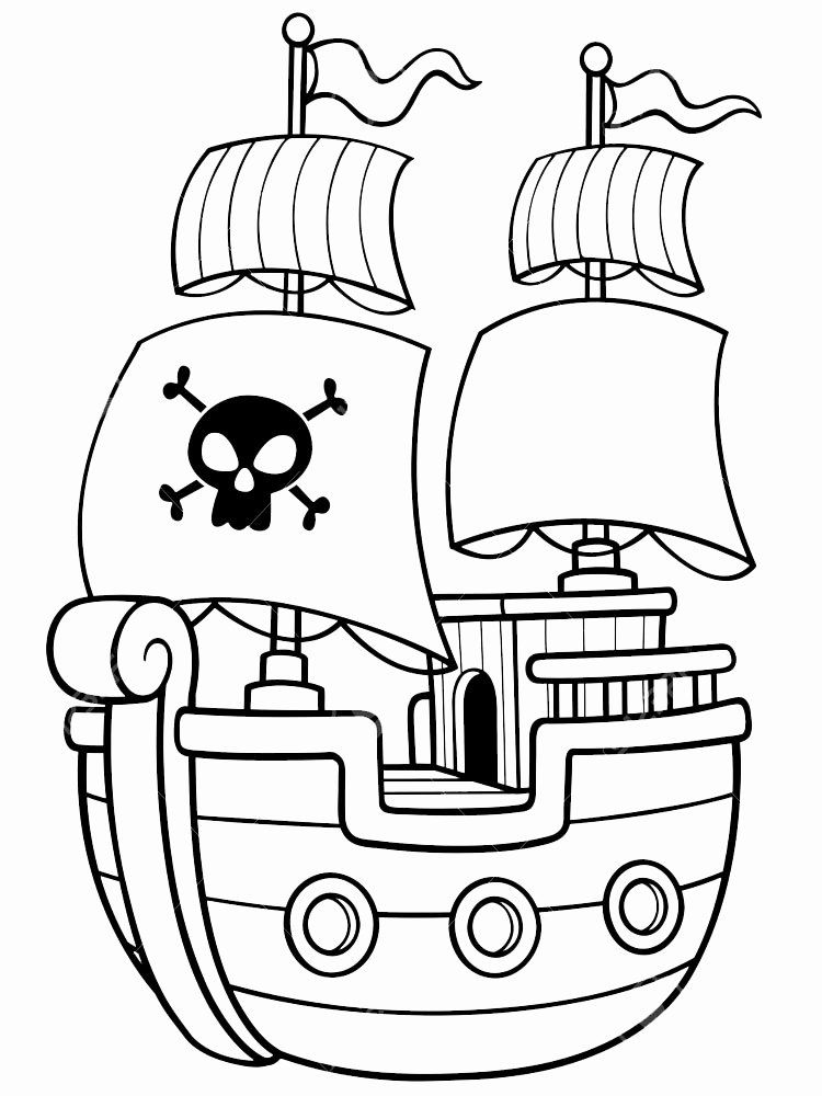 32 Pirate Ship Coloring Page in 2020 Pirate coloring