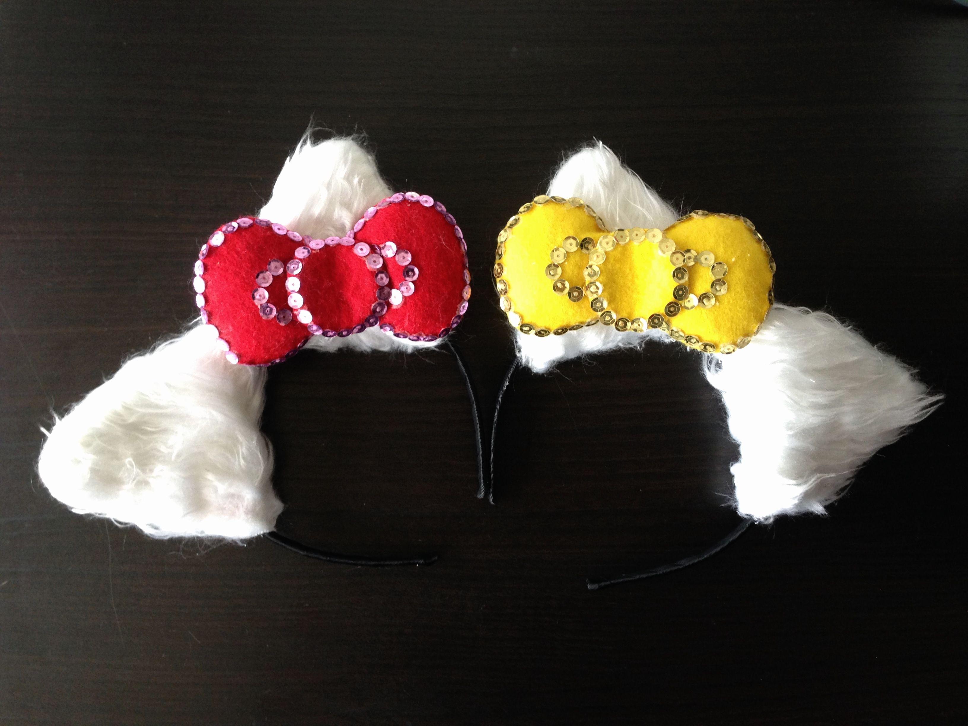 0e51b764c DIY Hello Kitty ears and bow headband. | Party ideas | Diy clothes ...