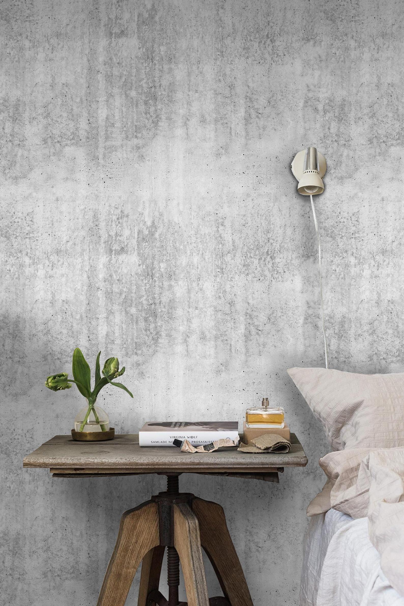 Gray Concrete Wall Removable Wallpaper Gray Wall Mural Non Etsy Concrete Wall Grey Walls Removable Wallpaper