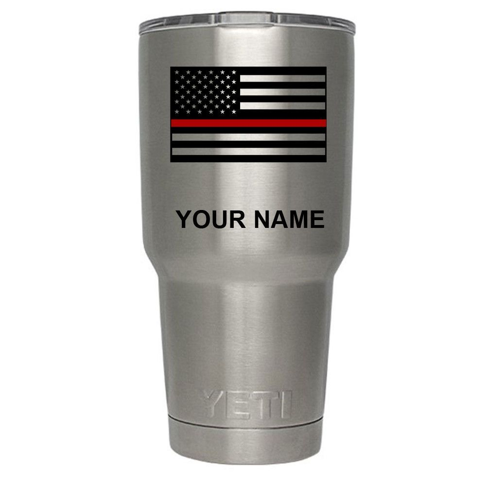 65772f36080 YETI Firefighter Thin Red Line Flag on Stainless 30 oz Tumbler