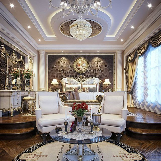 Luxury master bedroom qatar by taher design studio taher design studio