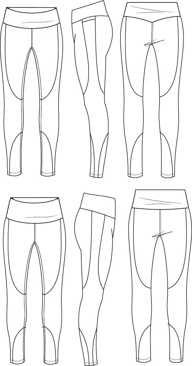 Tempo Athletic Tights PDF Pattern Sizes B M Pattern, B