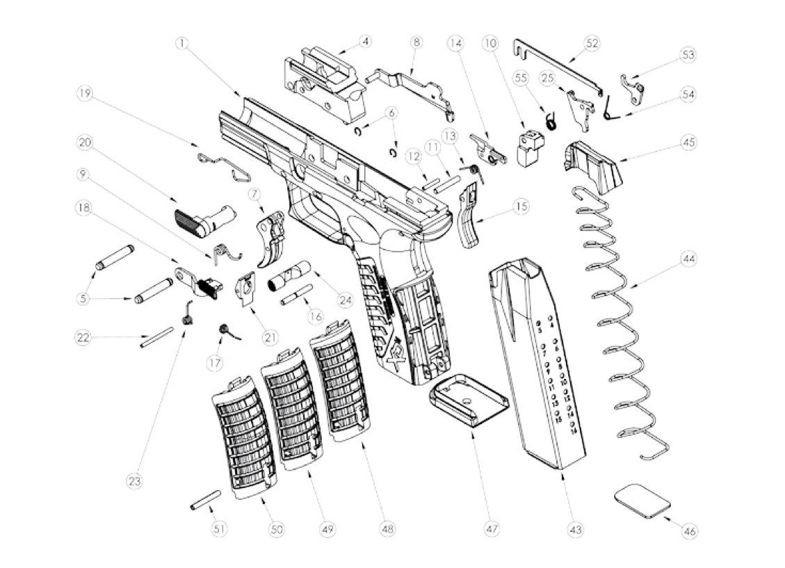 M p 40 diagram search springfield arms pinterest rh pinterest xd parts diagram springfield xd