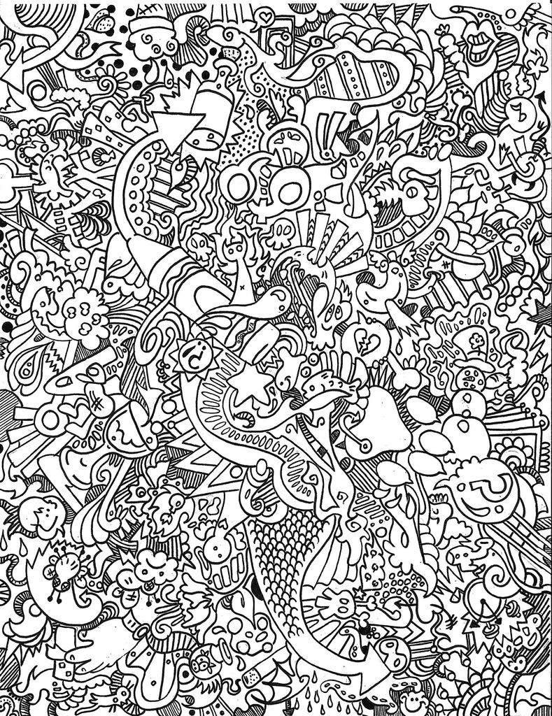 What A Trip Coloring Adult Coloring Pages Doodle