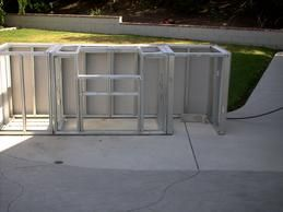 Diy Outdoor Kitchen Build Island Using Metal Studs How To Build For The Home Pinterest