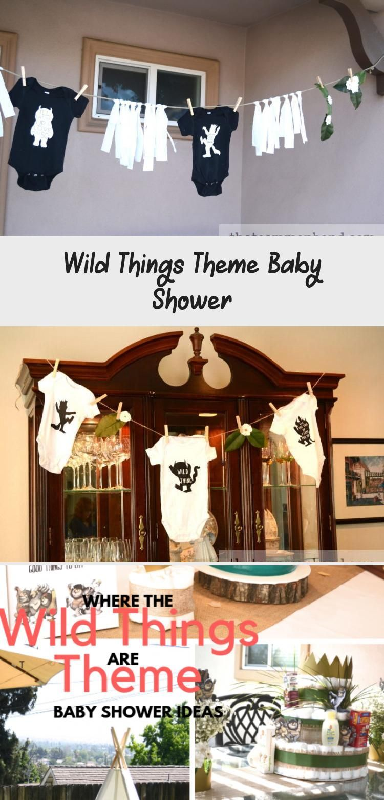 Wild Things Theme Baby Shower - health and diet fitness -  Baby, Shower, Baby Shower, Ideas, Girl, B...