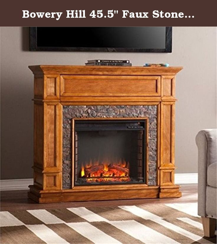 Bowery Hill 45 5 Faux Stone Fireplace Tv Stand I Electric