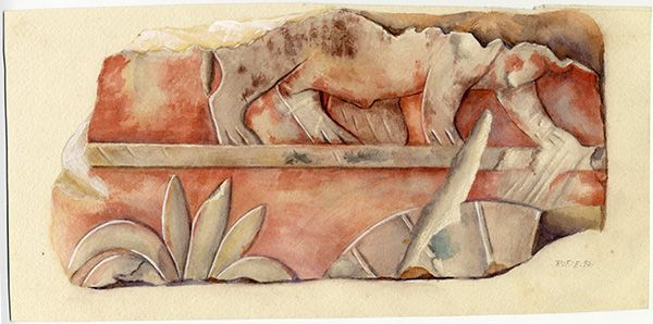 Hippopotamus And Vegatation From The Temple Of Queen Hatshepsut At