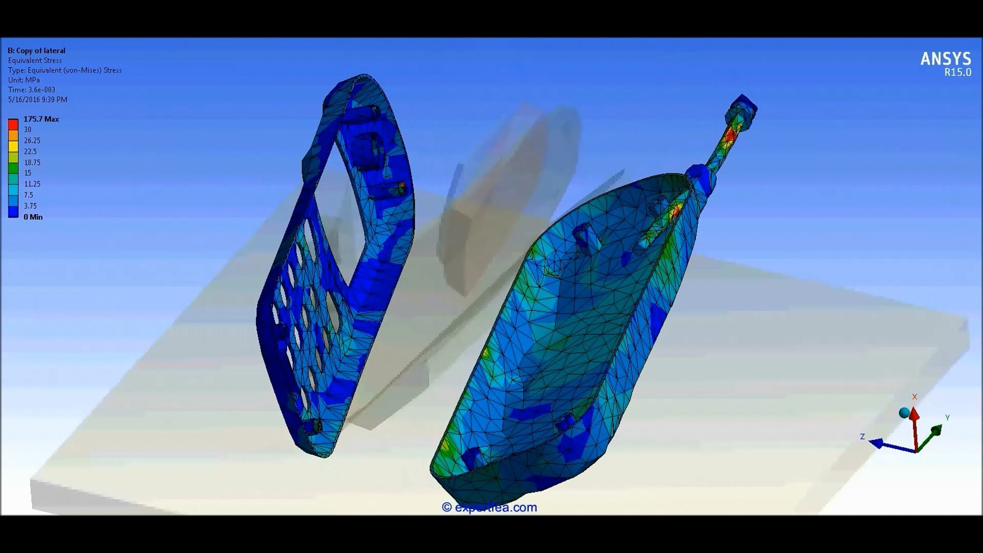 Ansys Workbench Explicit Dynamics Drop Test Of A Vintage Cellphone Falli