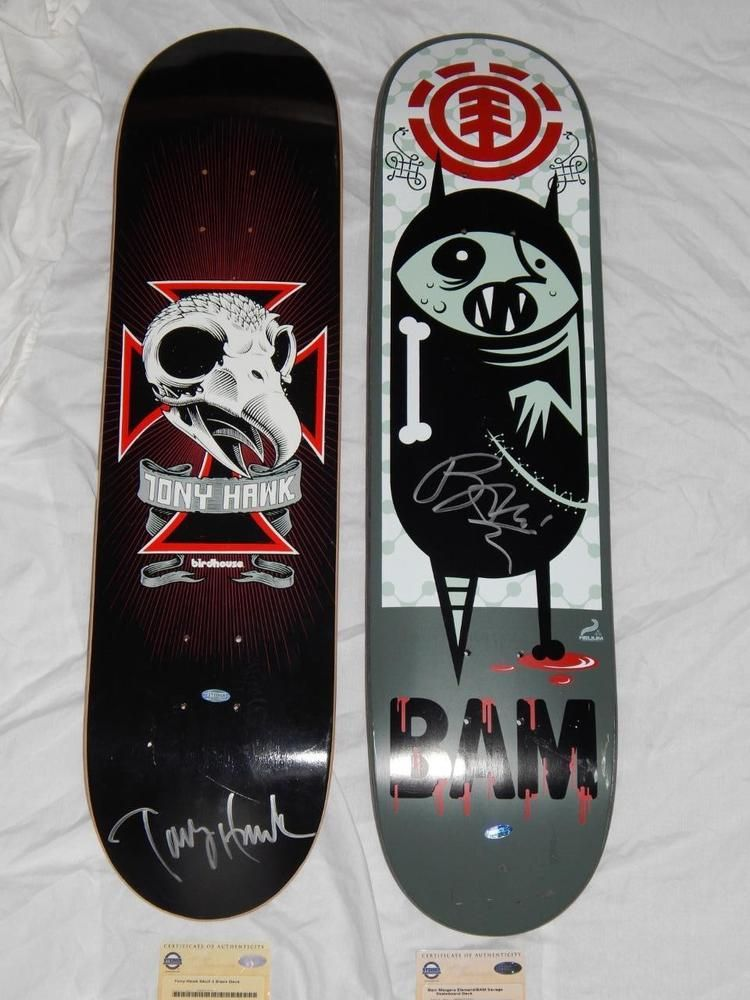 6aaea7389876 bam margera and tony hawk two signed skateboard decks steiner sports coas  from $449.0