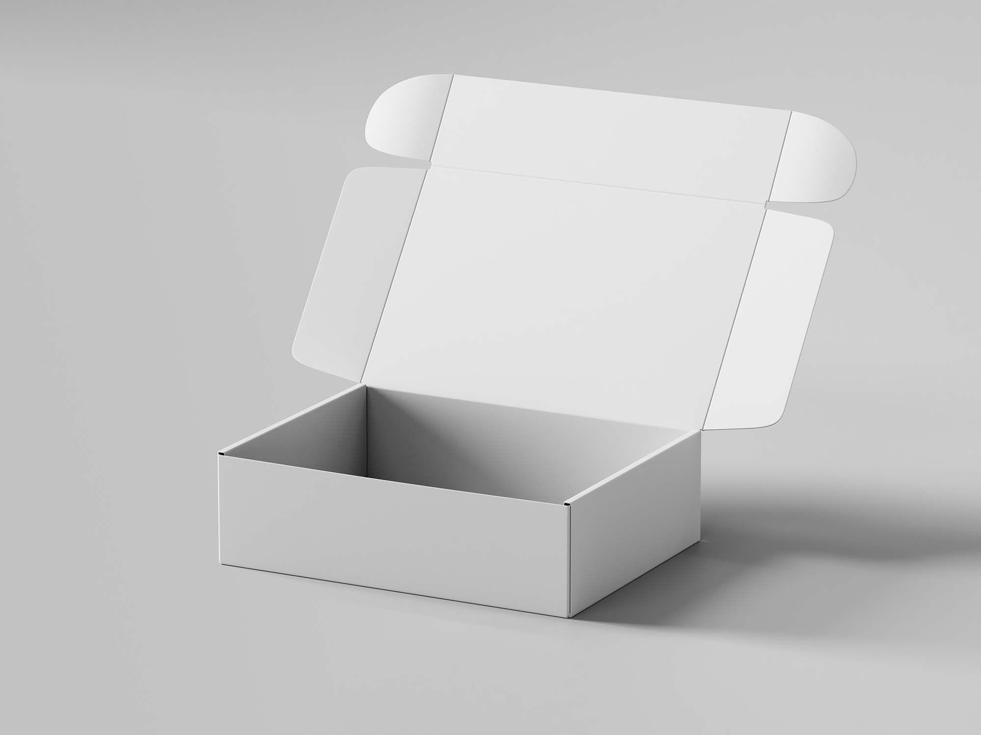 Download Free Pinch Lock Box Mockup in 2020 | Box mockup, Milk ...
