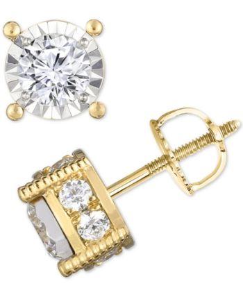 Trumiracle Diamond 1 1 4 Ct T W Stud Earrings Diamond Studs Stud Earrings Earrings