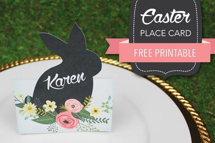 Free Printable Easter Place Card Boho Weddings Easter Place Cards Easter Printables Free Easter Templates