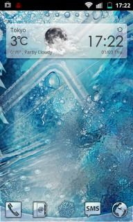 Download free Blue Ice Cold Android Theme Mobile Theme HTC