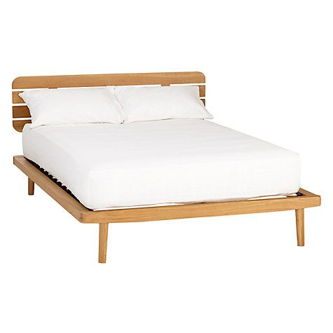 House By John Lewis Bow Slatted Headboard Bed Frame Double Oak Online At