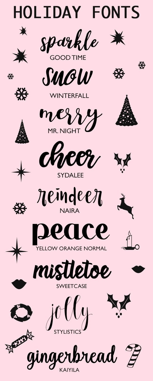 Fonts To Make Your Holidays Sparkle | Christmas | Pinterest ...
