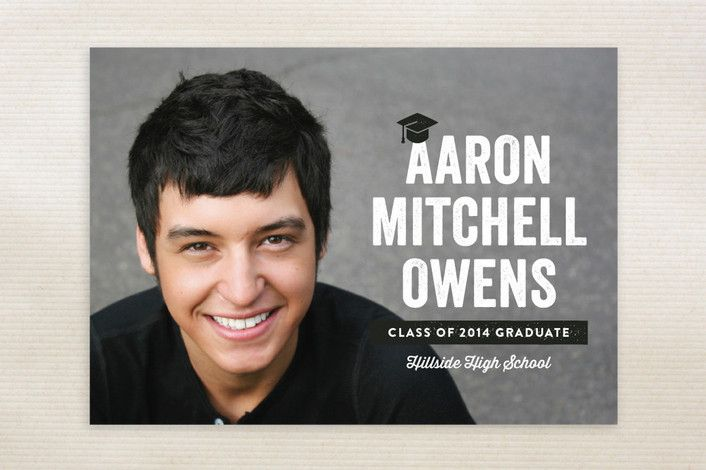 Hats-Off Graduation Announcements by Lauren Chism at minted.com