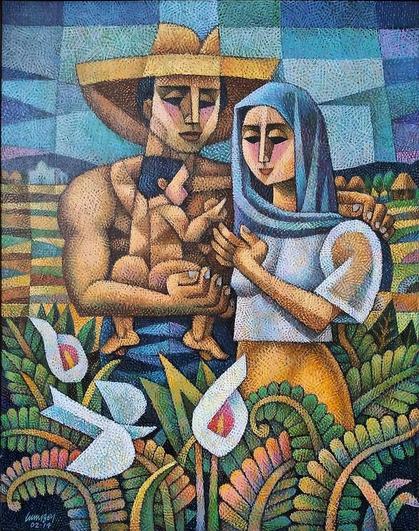 Family By Ninoy Lumboy A Filipino Artist Https Www Pinterest Com Crosshatchism Crosshatchism My Art Art Filipino Art Philippine Art Culture Art