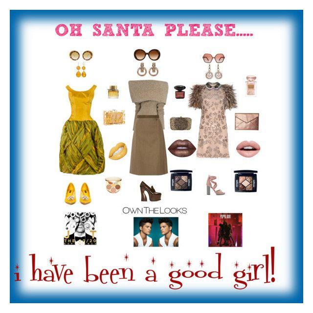 """OH SANTA PLEASE"" by giagiagia ❤ liked on Polyvore featuring Valentino, Maison Margiela, Christian Dior, Dolce&Gabbana, tarte, Selim Mouzannar, FOSSIL, Prada, Miu Miu and Rebecca Minkoff"