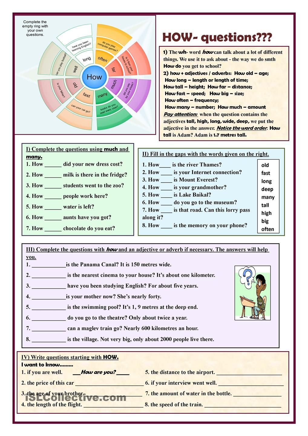 HOW questions ??? ESL worksheets of the day Pinterest
