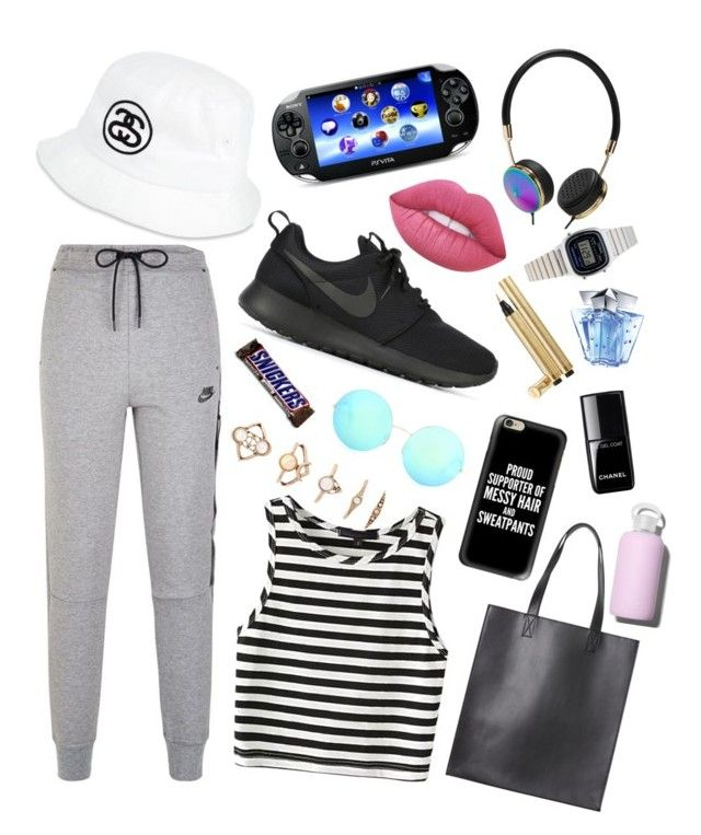 4. 17/5/2016 by snickerspim on Polyvore featuring polyvore fashion style NIKE Monki Casio Forever 21 Frends Casetify Victoria Beckham Stussy Lime Crime Yves Saint Laurent Thierry Mugler Chanel bkr clothing