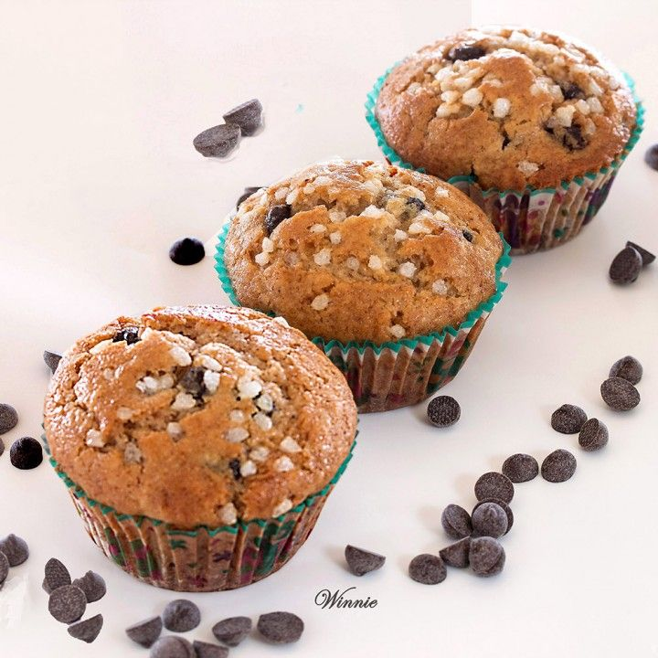Chocolate-Chips Muffins with a little trick